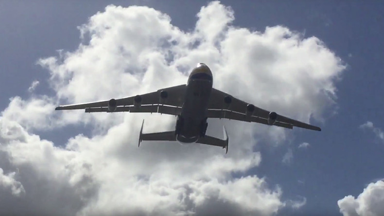 Soviet giant: Biggest plane on Earth AN-225 Mriya lands in Australia (VIDEOS)