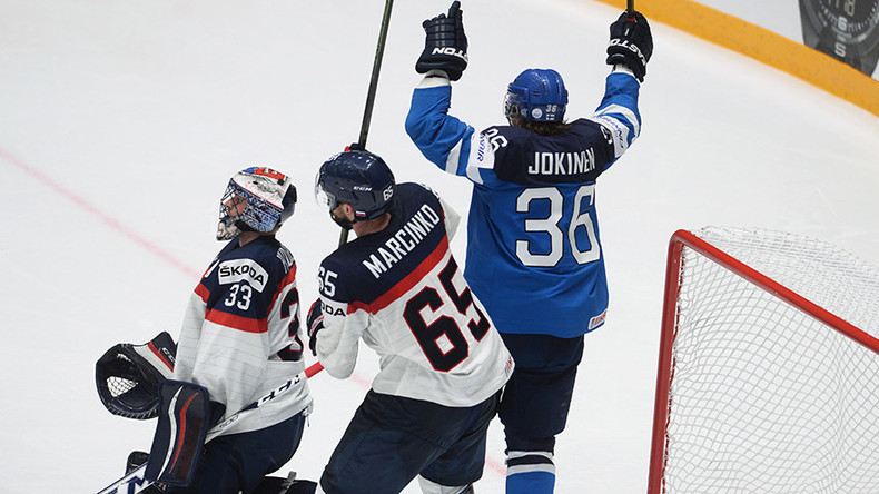 Finland wins again but US slips up on Hockey World Championships Day 10