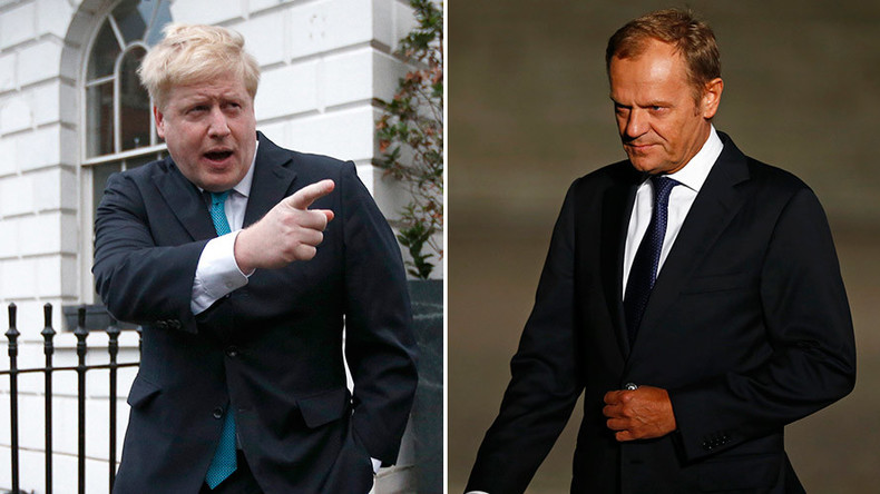 EU's Tusk brands Boris Johnson's Hitler comparison 'dangerous & absurd'