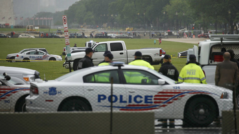 Man drives truck onto National Mall, warns of 'dangerous substance' inside
