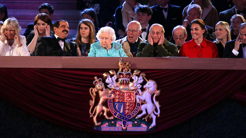 Queen seated next to Bahraini king at birthday bash… because he's bankrolling UK navy base?