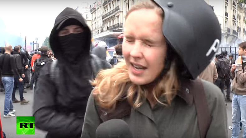 'They were looking for trouble': RT journalist describes being assaulted during Paris demo