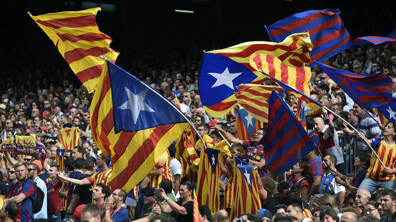 'Attack on freedom of expression': Barcelona fuming as Madrid bans Catalan flag at football match