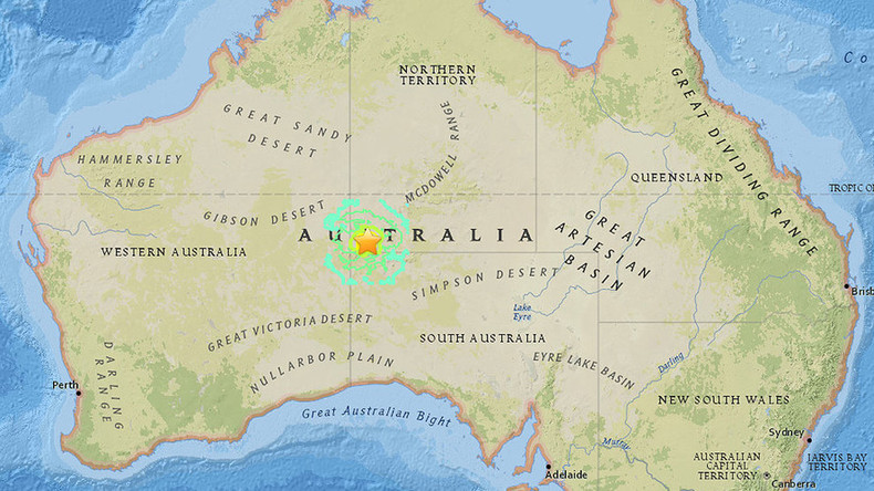 Magnitude 5.9 quake hits central Australia at 10km depth – USGS
