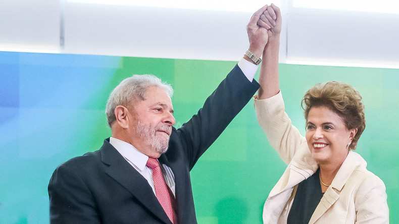 Brazil's Rousseff ousted by media boycott, conspiring businessmen – ex-president Lula to RT