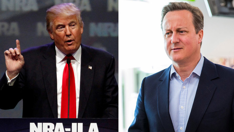 Cameron: 'I'd meet Trump, but his Muslim comments are dangerous'
