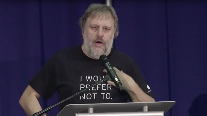 Žižek at Left Forum: 'Terrorists, rapists, & criminals among refugees, but who cares?'