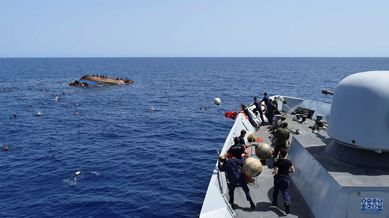 'Shockingly large' number of refugees in Med pushes German Navy to limits – report