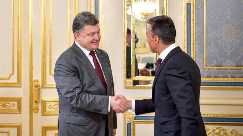 Poroshenko appoints former NATO chief Rasmussen 'non-staff adviser'