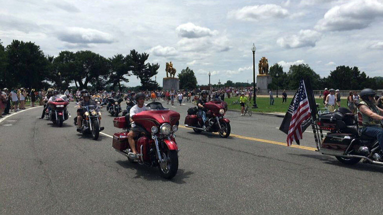 Thousands of 'Rolling Thunder' bikers parade through DC honoring American POWs