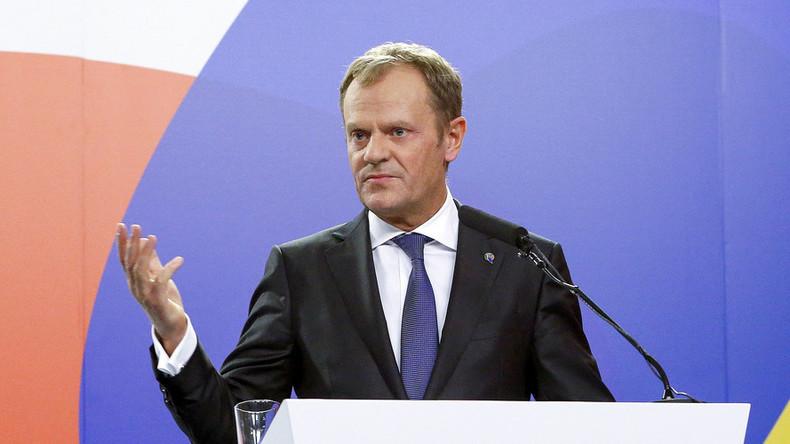'Specter of break-up haunting Europe': EU chief Tusk blasts 'illusions' of bloc's unity