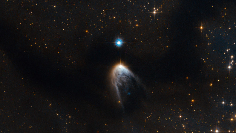 Hubble telescope snaps emergence of new, supersonic gas belching star (PHOTO)
