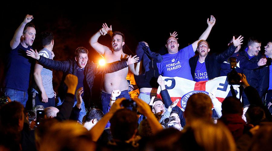Leicester's Premier League title win sparks wild celebrations