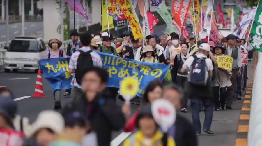 'Go to jail!' Japanese protesters hit out at Abe over cronyism scandal, constitution (PHOTOS, VIDEO)