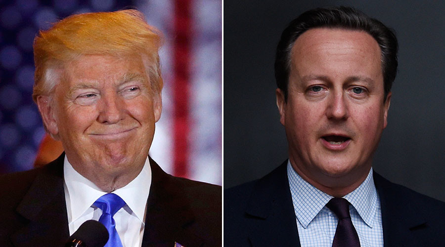 Cameron should say sorry for calling Trump 'divisive, stupid & wrong' – aide