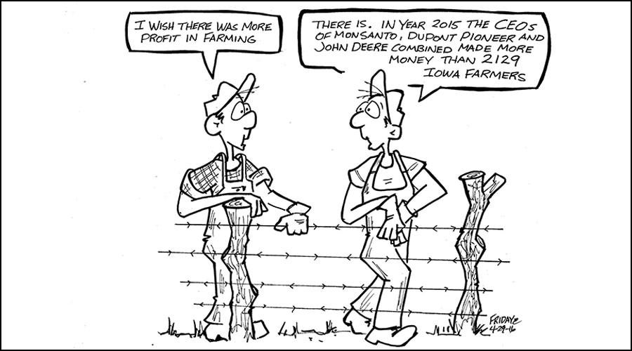 Mighty Monsanto: Veteran cartoonist fired for pro-farmer, anti-Big Ag piece