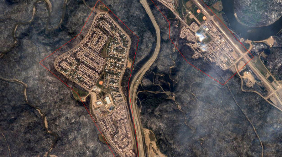 Before After Satellite Images Show Wildfire Devastation Wreaked - 2016 google maps satellite