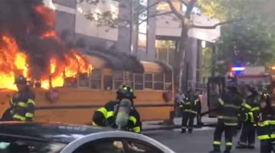 11-year-old facing hate crime charges for burning bus