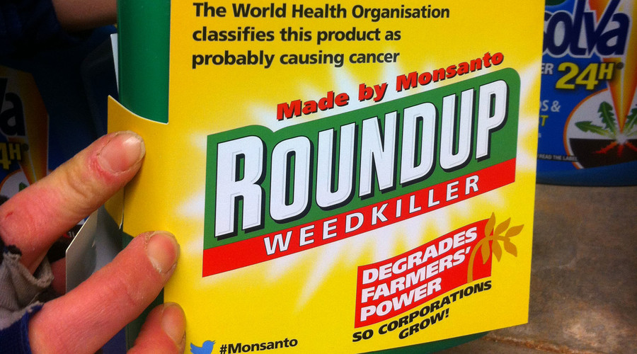 Monsanto weedkiller relabeled by activists to expose alleged cancer-causing properties