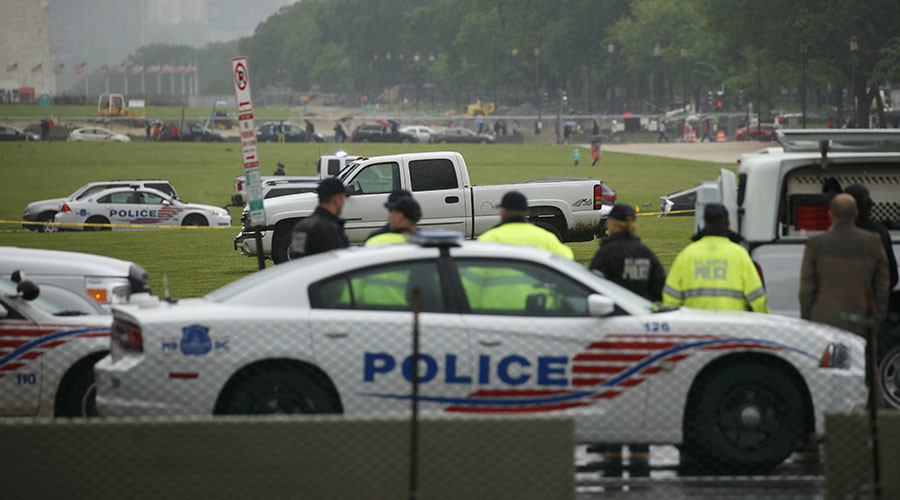 Man drives truck onto National Mall, warns of 'dangerous substance' inside
