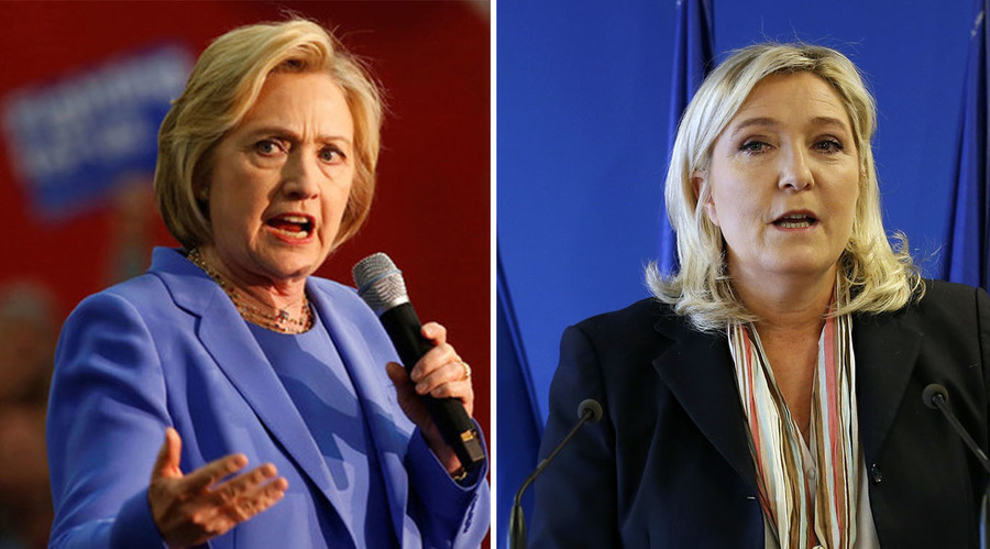 'Clinton as president is danger to world peace' – far-right French leader Le Pen to RT