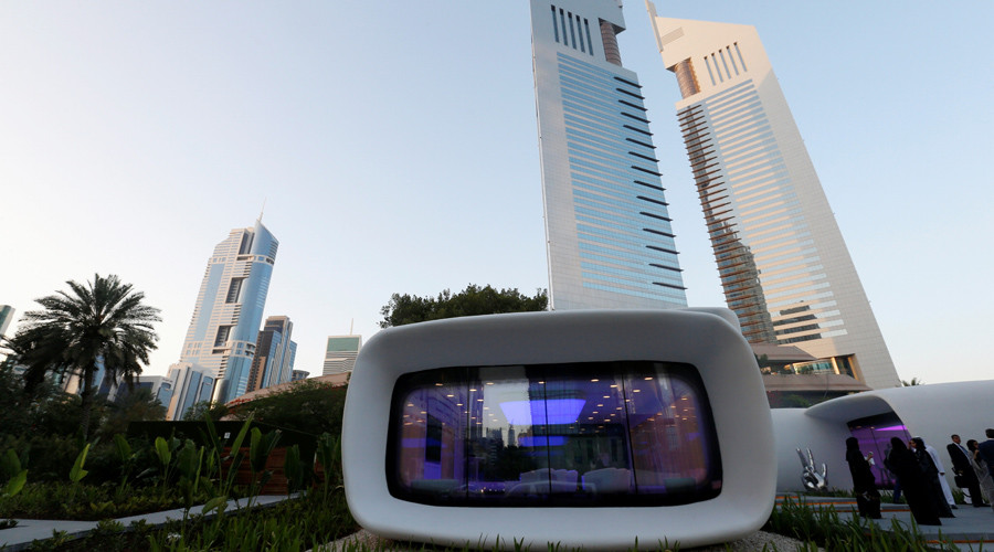 Giant 3D printer shaped Dubai's 'Office of the Future' in less than three weeks (PHOTOS)