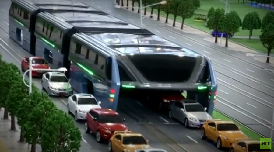 The future of transport? From China's traffic-busting 'uber-bus' to flying cars (VIDEOS)