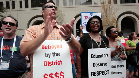 Happy Educators Appreciation Week: Teachers protest potential lost wages with 'sick-out'