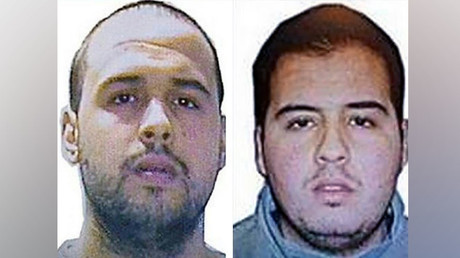 This combination of handout pictures obtained by AFP on March 23, 2016 shows Khalid (L) and Ibrahim (R) El Bakraoui, the two Belgian brothers identified as the suicide bombers who struck Brussels on March 22, 2016. © OFF