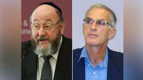 Chief Rabbi Ephraim Mirvis (L) and Dr. Norman Finkelstein. © Wikipedia