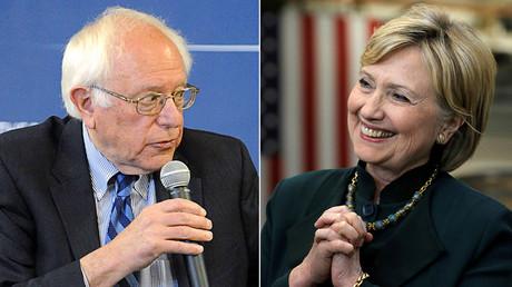 Democratic U.S. presidential candidate Bernie Sanders (L) and U.S. Democratic presidential candidate Hillary Clinton © Reuters