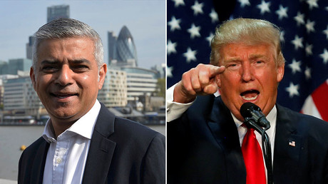 Britain's newly elected mayor Sadiq Khan (L) and Republican U.S. presidential candidate Donald Trump. ©Reuters