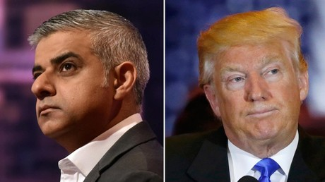 London's newly elected mayor Sadiq Khan (L), Republican U.S. presidential candidate and businessman Donald Trump. © Reuters