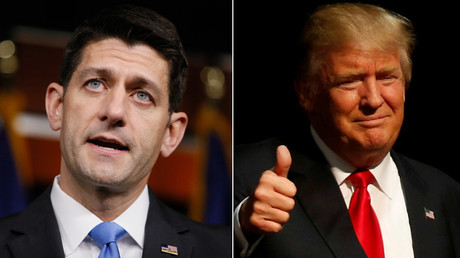 U.S. Speaker of the House Paul Ryan, Republican U.S. presidential candidate Donald Trump © Jim Bourg, Jim Urquhart