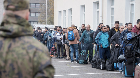 Asylum seekers arrive at a refugee reception centre in the northern town of Tornio, Finland © Lehtikuva