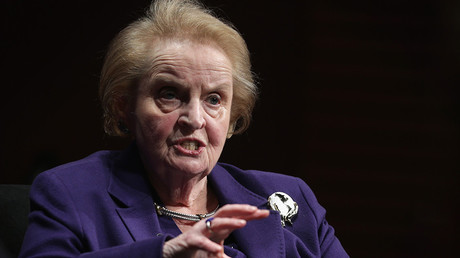 Students & faculty protest 'war criminal' Madeleine Albright commencement speech