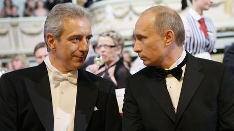 Russian President Vladimir Putin and Saxony's Minister-President Stanislaw Tillich © Aleksey Nikolskyi