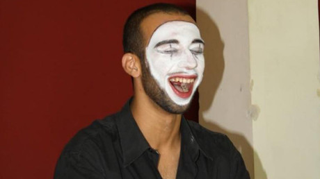Palestinian clown and circus trainer Mohammad Abu Sakha arrested by Israeli military and held for five months without charge or trial © Palestinian Circus School