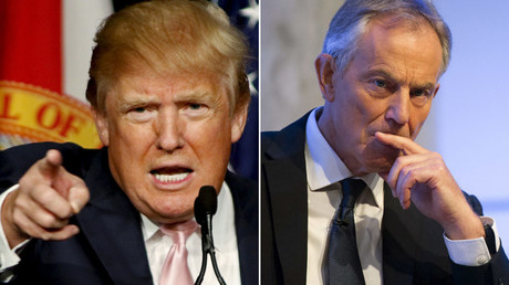 U.S. presidential candidate Donald Trump (L) and Former British Prime Minister Tony Blair © Reuters