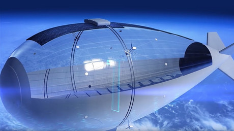 Solar surveillance: Airship designed for stratospheric snooping enters development stage (VIDEO)