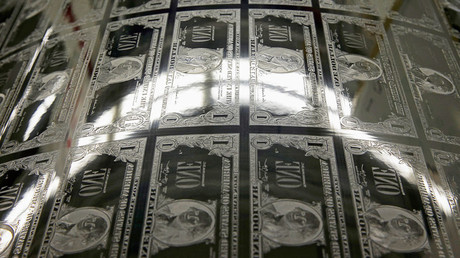 An engraving plate for United States one dollar bills is seen during production at the Bureau of Engraving and Printing in Washington © Gary Cameron