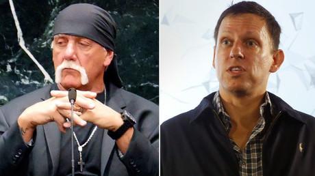 Terry Bollea, known as professional wrestler Hulk Hogan, Peter Thiel © Boyzell Hosey, Jacky Naegelen