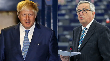Former Mayor of London Boris Johnson and European Commission President Jean-Claude Juncker © Reuters