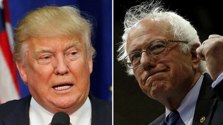 U.S. Republican presidential candidate Donald Trump  and Democratic U.S. presidential candidate Bernie Sanders © Reuters