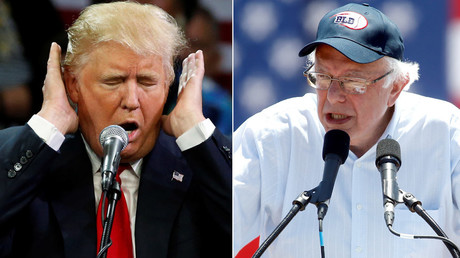Republican U.S. presidential candidate Donald Trump, U.S. Democratic presidential candidate Bernie Sanders © Jonathan Ernst, Alex Gallardo