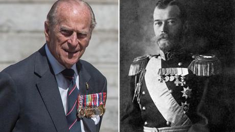 Prince Phillip, Nicholas II in a ceremonial uniform. © Neil Hall, Sputnik