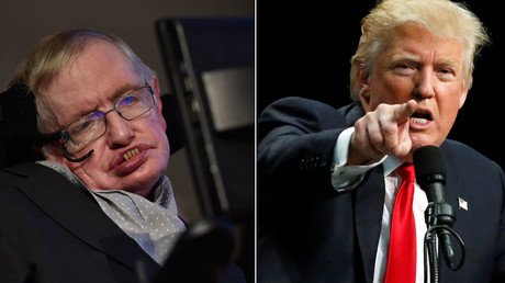 British scientist and theoretical physicist Stephen Hawking, Republican U.S. presidential candidate Donald Trump © Toby Melville, Jonathan Ernst