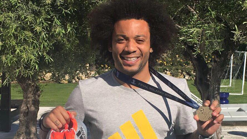 Real Madrid star Marcelo gives away Champions League medal on Facebook