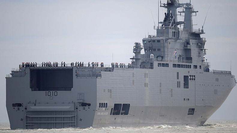 France hands first 'ex-Russian' Mistral ship to Egypt