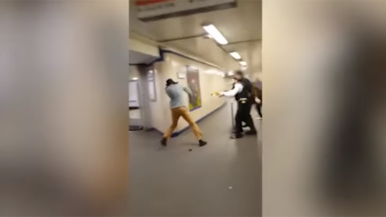 Jury sees police taser 'mentally ill' Islamic extremist who slashed London commuter's throat (VIDEO)